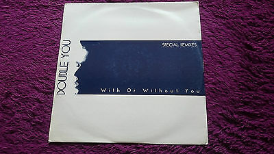 "Double You ‎– With Or Without You ,  2 × Vinyl, 12"" , 1993 , Italy , DWA 0081"