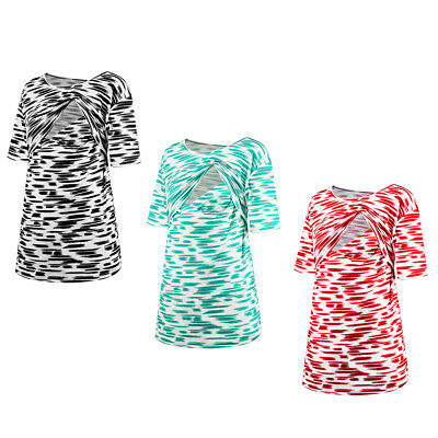 Pregnant Women Breast Feeding Clothes Nursing Top Double Layer Fringe T-Shirt