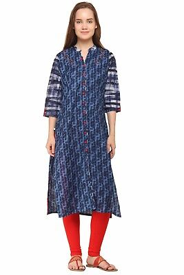 Indian Bollywood Designer New Stylish Printed Cotton Kurti Women Ethnic Dress