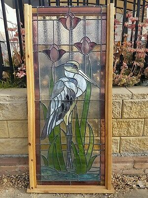 Amazing Stained Glass Ledlight Restored Antique Artwork Masterpeice Window Panel