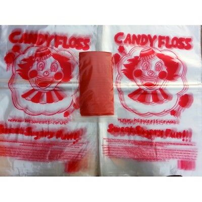 candy floss bags, candy floss plastic bags, with ties, cotton candy bags