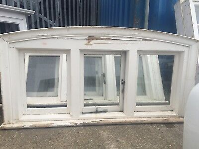 Reclaimed Wide Arched Architectural wooden window (s)