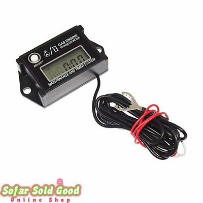 Tachometer Max RPM Recall LCD Display Go Kart Tach Hour Digital Meter Waterproof