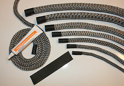 Sealing Cord Oven Seal Fireplace gasket 2m Set All Sizes & length