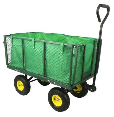 New Metal Festival Camping Garden Wheelbarrow Garden Cart Barrow Trolley Wheels