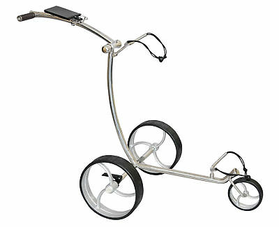 Tour Made RT-210W Stainless Steel Golf Push Trolley Caddy Wave Design 3 Wheels