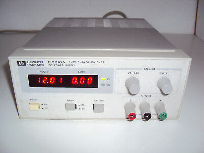 HP / Agilent E3610A Power Supply 0-8V/0-3A   0-15V/0-2A