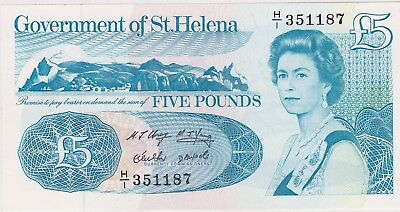 P11a SAINT HELENA 1998 FIVE POUNDS BANKNOTE IN NEAR MINT CONDITION
