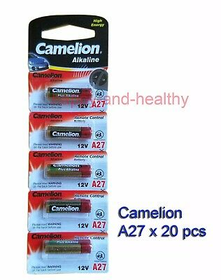 20 pcs Camelion A27 27A MN27 Alkaline Batteries for remotes FREE Shipping