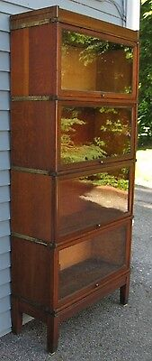 rare LARGE DEEP OAK GLOBE WERNICKE barrister bookcase section E 13 1/2 lawyers