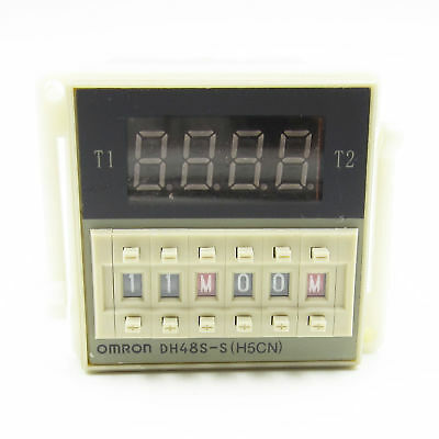 AC 220V Digital Precision Programmable Time Delay Relais DH48S-S mit Socket Base