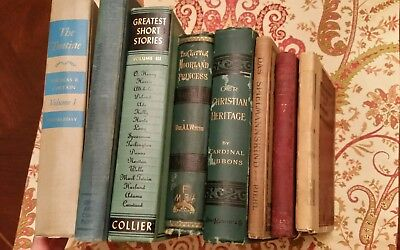 Lot of 8 Old Books mixed Fiction and non Fiction Christian Heritage, The Tontine