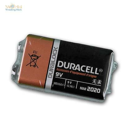 9 V-Block 6LR61 MN1604 battery duracell plus OEM Version, block battery 9v