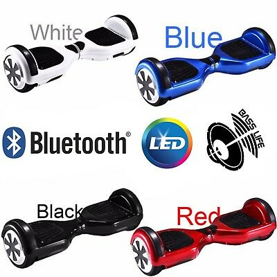 """Hoverboard 6.5"""" Speaker Bluetooth Balance Luci LED Overboard Monopattino Scooter"""