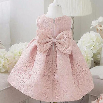 Newborn Baby Gown Infant Girl's Birth Princess Lace Baptism Dress Toddler Baby