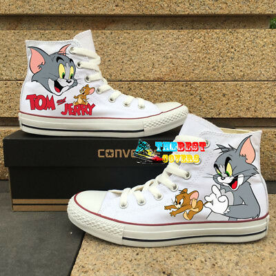 2ec55c11ad7d CONVERSE Chuck Taylor All Star TOM AND JERRY cartoon hand painted shoes