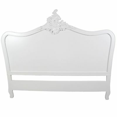 White Louis XV Vintage Style French Headboard (Double, King)