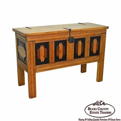 Hand Crafted Tall Southwood Style Lidded Chest