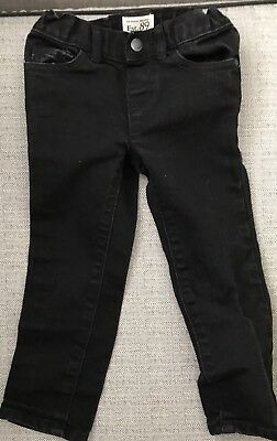 Toddler Girl size 3T Est. 89 Place Skinny Black Stretch Denim Jeans