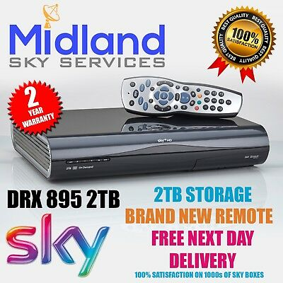 SKY PLUS + HD BOX - AMSTRAD DRX895 - 2TB storage Including New remote control