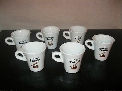 CAFES FRAICA GRENOBLE Lot x6 TASSES Café 38 Isère Folliet Bistrot Bar Troquet