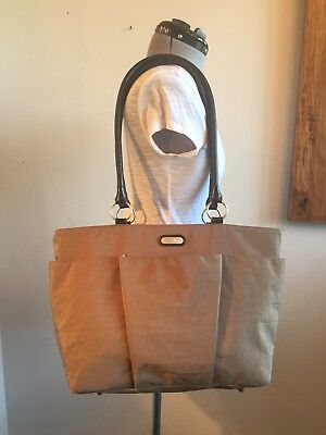 Baggallini POCKET HOBO TOTE Taupe Cargo Zipper  Shoulder bag Wow!!!