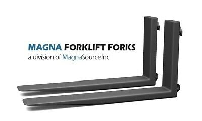 "NEW Forklift Forks + 96"" Long Class 4 +  12500 Capacity + Free Shipping + Magna"