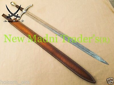 "45"" Damascus Handmade Replica Lord Of Ring Sword Free Shipping"