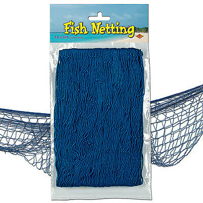 Blue Fish Netting Decoration Under the Sea Luau Nautical Birthday Party Event