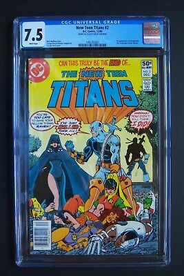 NEW TEEN TITANS #2, DC Comics, CGC 7.5 grade, Deathstroke 1st appearance