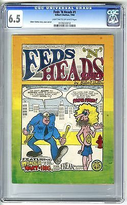 Feds 'n Heads #1 1968 1St Print Cgc 6.5 Fn+ 1St Freak Brothers Underground Comix