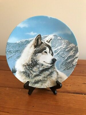 Solitary Watch Native American Collector plate by Bradex.