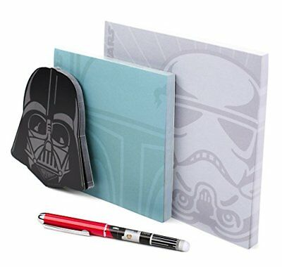 Premium Star Wars Notepad Fans Set (3 Notepads, 1 Pen).75 by 6.25 inches - New