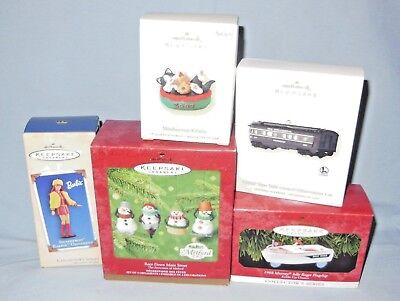 Hallmark Christmas Ornaments Lot Of Five (5)-All New In Their Box With Tags
