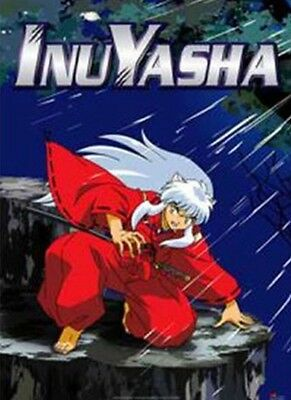 InuYasha Crouching Night Fabric Poster Scroll Home Decor Anime