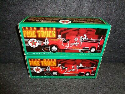 1998 Texaco 1929 Mack Fire Truck #14 In Truck Series Gold Special Edition
