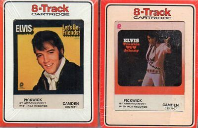 2 Elvis Presley Sealed 8 Track Tapes Let's Be Friends Frankie and Johnny