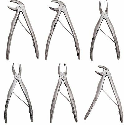 X6 Dental Children Tooth Extraction Forceps Pedo Surgical Extracting Instruments