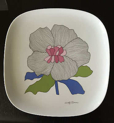 rosenthal germany large heavy wall plate Wolf Bauer design studio line
