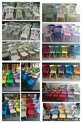 Mix Match Painted Vintage Farmhouse Kitchen Dining Chairs in Annie Sloan Paint