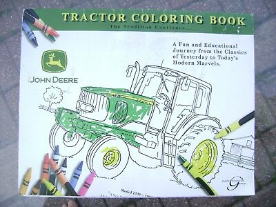 JOHN DEERE Tractor Coloring Book  BRAND NEW FREE SHIPPING