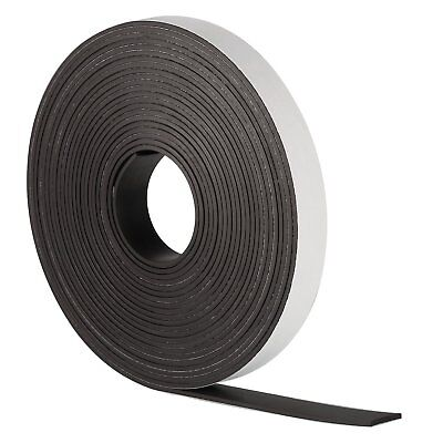 SELF ADHESIVE MAGNETIC TAPE STRIP FLEXIBLE FRIDGE/CRAFT12.7mm *VERY STRONG*