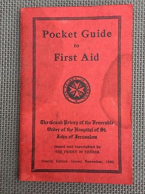Vintage Pocket Guide to First Aid - The Priory In Canada - 4th Edition - 1946