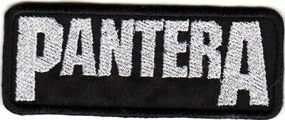 Pantera Logo Woven Embroidered Sew On Patch (100x40mm)