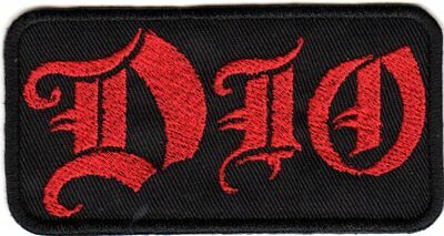 Dio Logo Woven Embroidered Sew On Patch (100x50mm)
