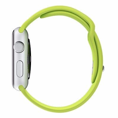New, Apple Watch 38 mm Green Sports Band with Stainless Steel Pin