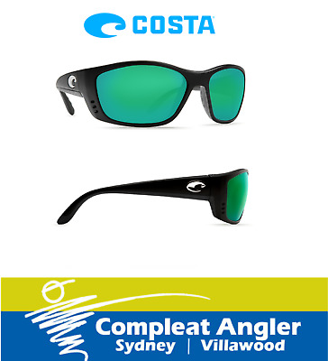 Costa Del Mar Fisch Black 400G Green Mirror Sunglasses BRAND NEW At Compleat Ang