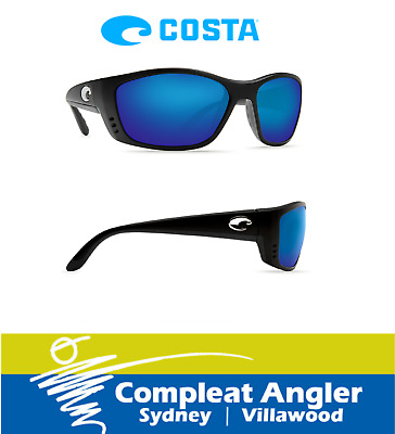 Costa Del Mar Fisch Black 580G Blue Mirror Sunglasses BRAND NEW At Compleat Angl