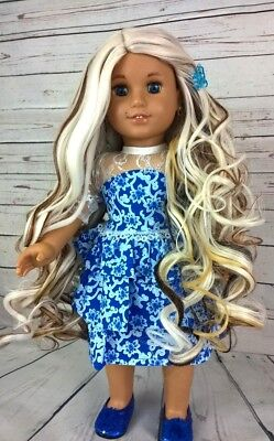 "10-11 Custom Doll Wig fit Blythe-American Girl-1/4 Size ""Latte Mousseuse"" bn1"