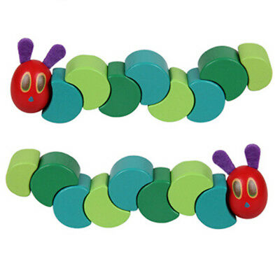 Hungry Caterpillar Wood Grasp & Twist Toy Wooden Kids Baby Child Educational Toy